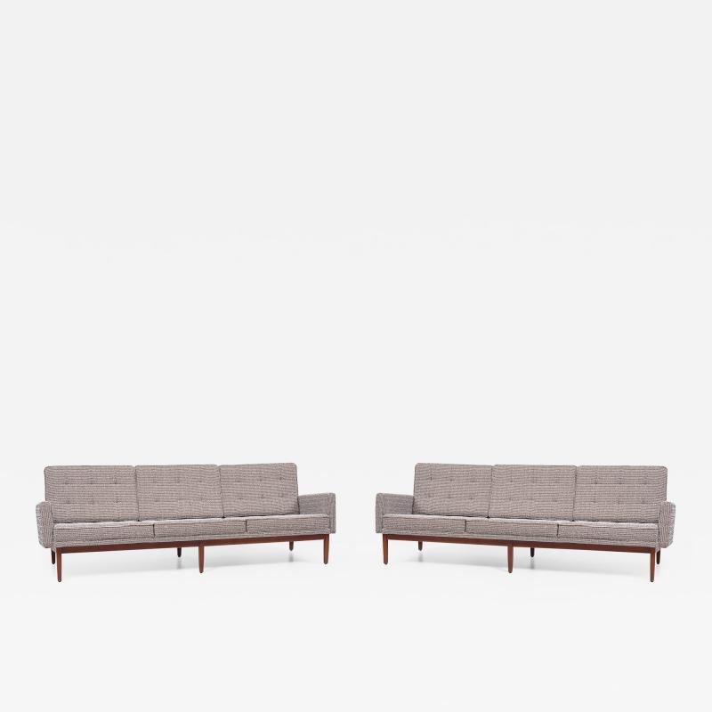 Florence Knoll Pair of Florence Knoll 57W Sofas by Knoll Associates USA 1950s