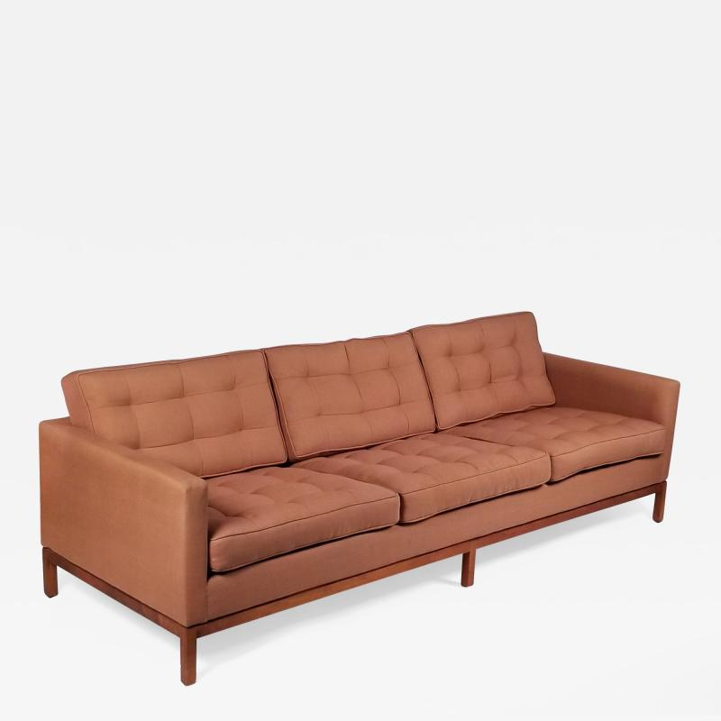 Florence Knoll Three Seat Sofa designed by Florence Knoll for Knoll International
