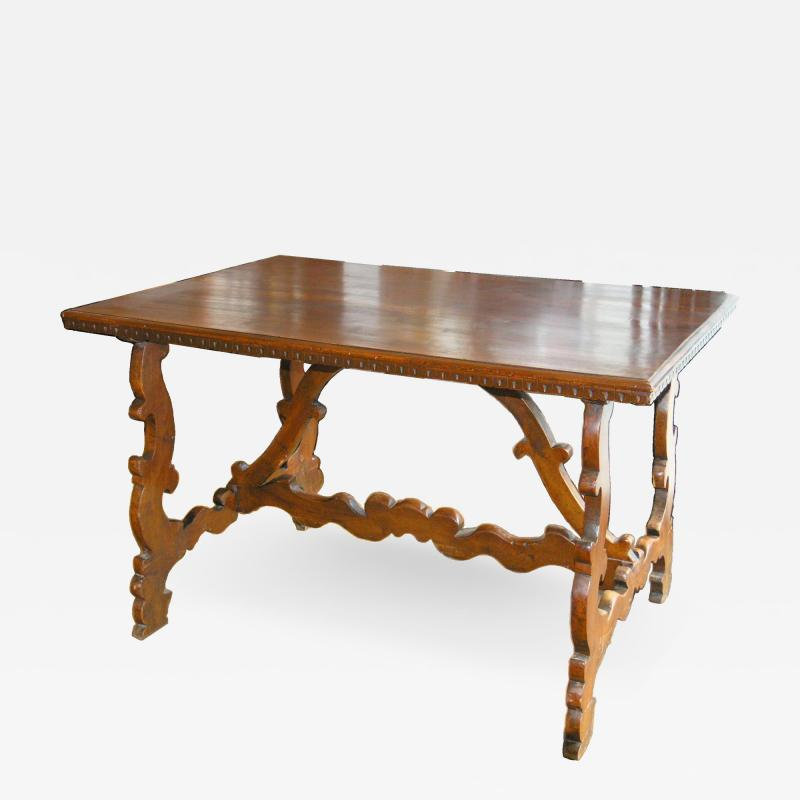 Florentine Walnut Trestle Table