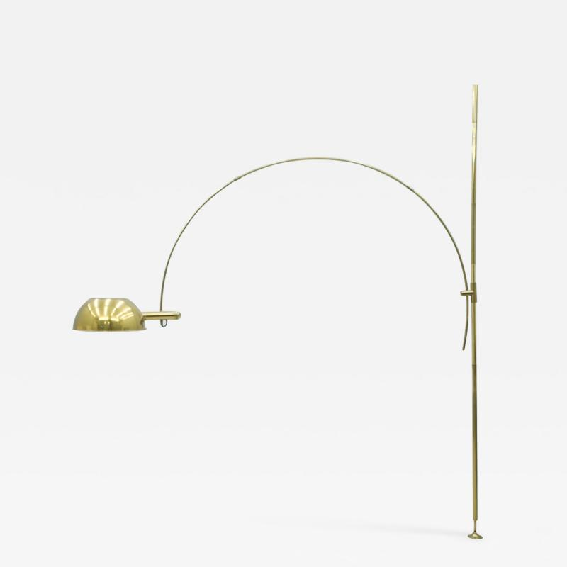 Florian Schulz Florian Schulz Adjustable Arc Brass Floor Lamp 1970s