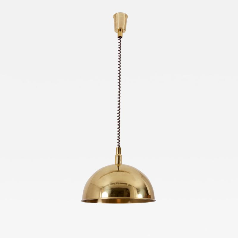 Florian Schulz Pendant Lamp in Brass by Florian Schulz Germany 1970s