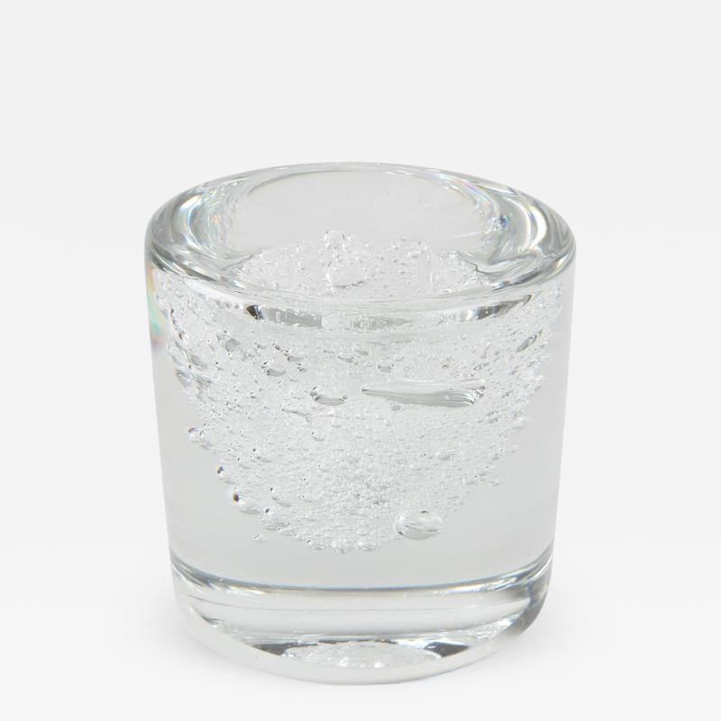 Floris Meydam Clear Crystal Bubble Vase by Floris Meydam for Leerdam Unica