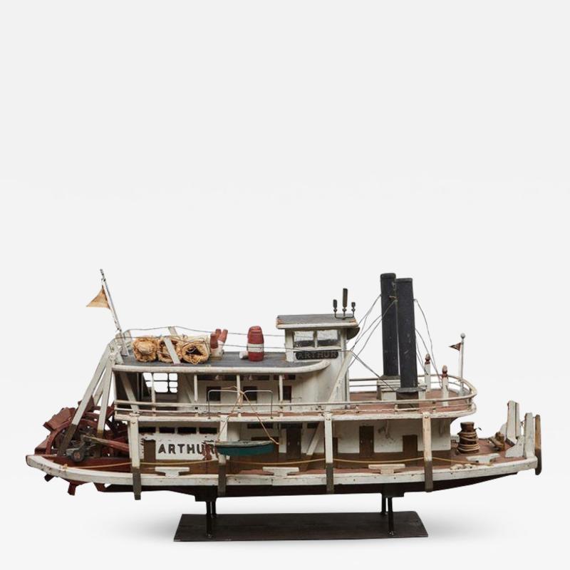 Folk Art Paddle Boat Arthur of Paducah KY