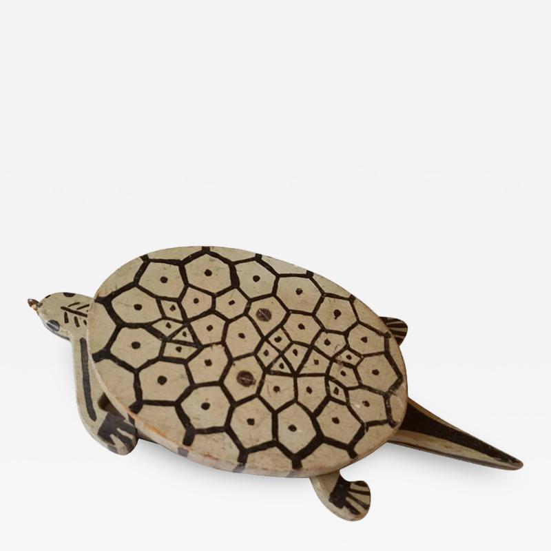 Folk Art Turtle Childs Toy American 1930s