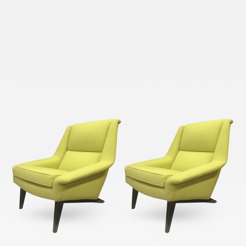 Folke Ohlsson Folke Ohlsson Large and Extremely Comfortable Pair of Lounge Chairs