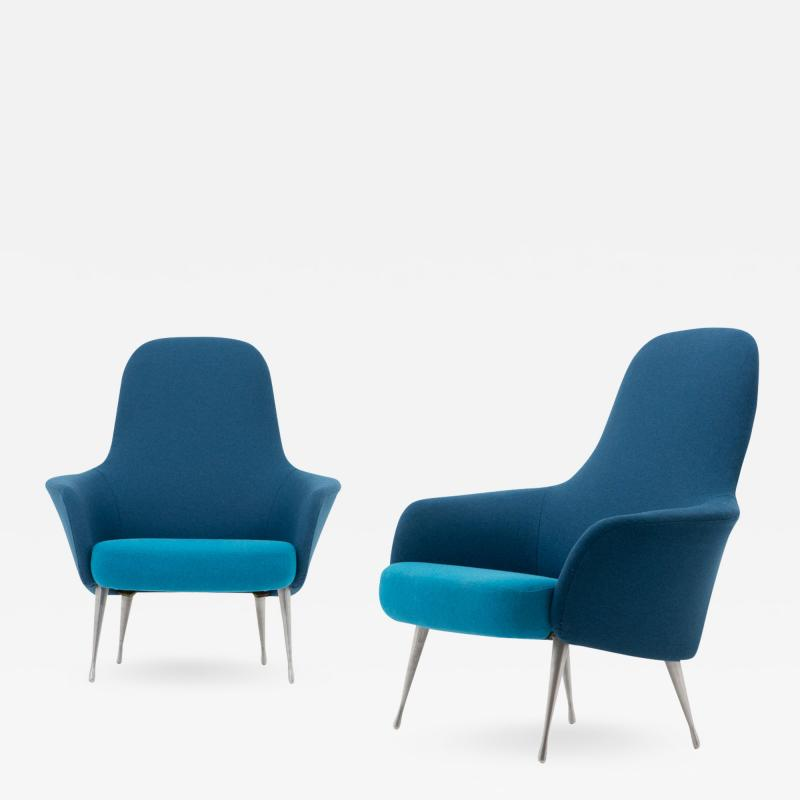 Folke Ohlsson Scandinavian Midcentury Lounge Chairs by Alf Svensson for DUX 1960s
