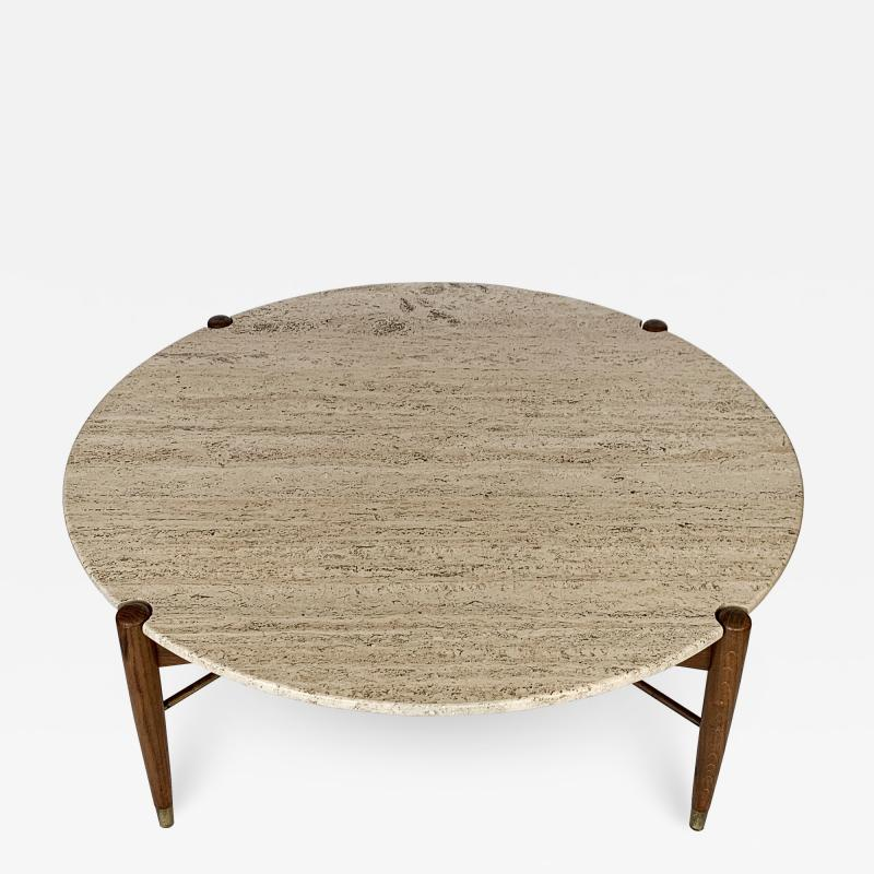 Folke Ohlsson Travertine Coffee Table by Folke Ohlsson for DUX Sweden