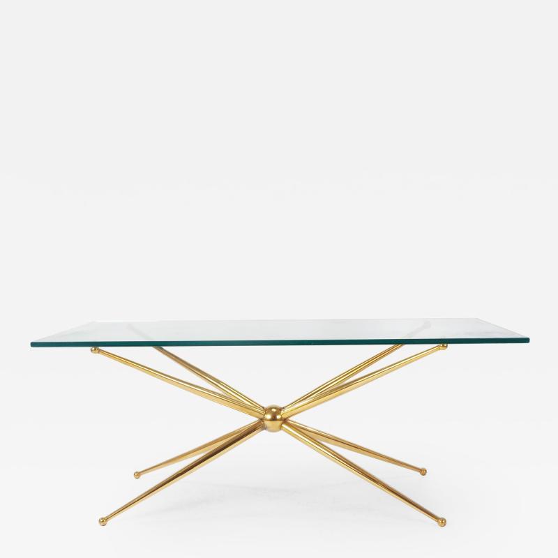 Fontana Arte Fontana Arte Coffee Table Stamped F Milano with X Motif 1950s
