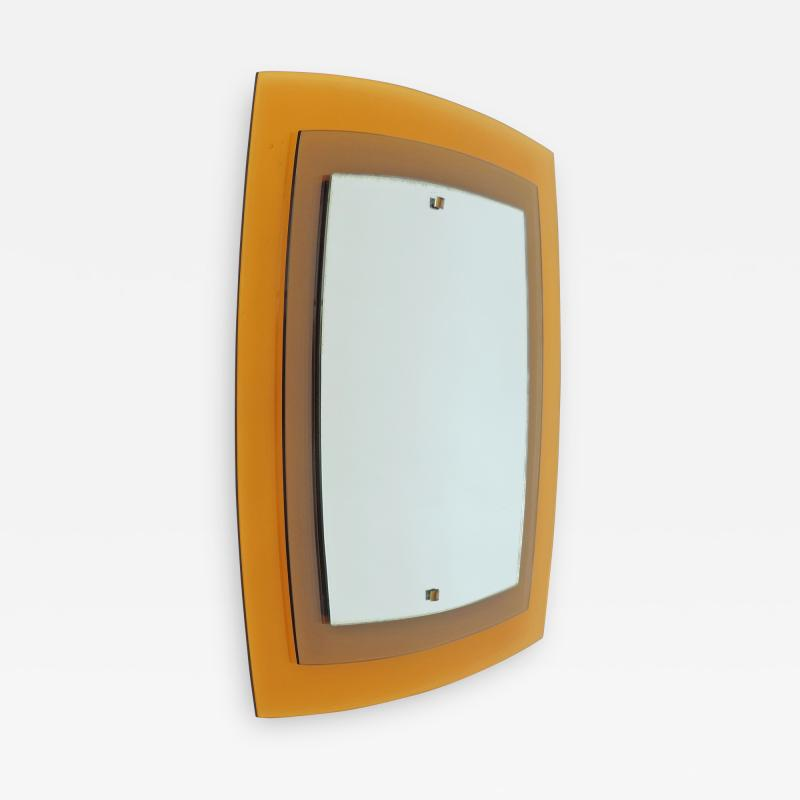 Fontana Arte Fontana Arte Mod 2180 Yellow and Orange Wall Mirror Italy 1960s