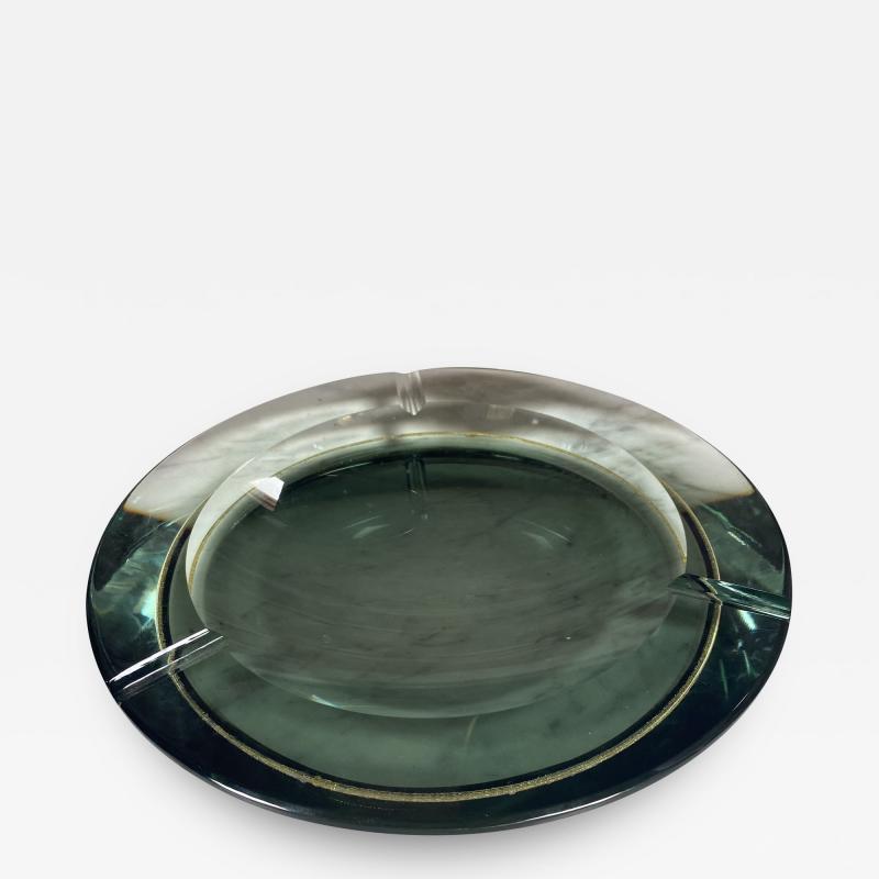 Fontana Arte Fontana Arte Pocket Ashtray Curved Crystal 1960 Italy