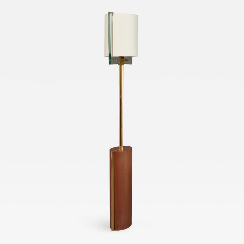 Fontana Arte Fontana Arte Polished Brass Floor Lamp Italy 1990