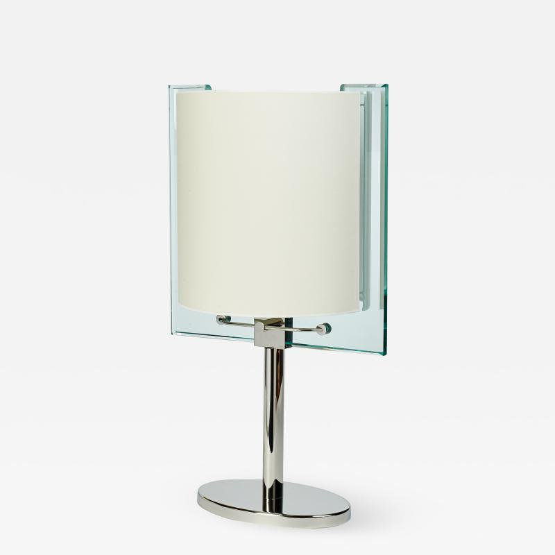 Fontana Arte Fontana Arte Table Lamp in Polished Nickel Italy ca 1990