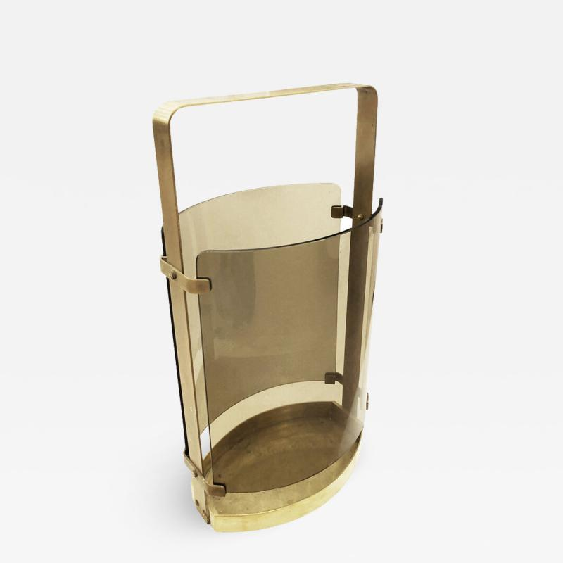 Fontana Arte Fontana Arte Umbrella Stand with Smoked Glass