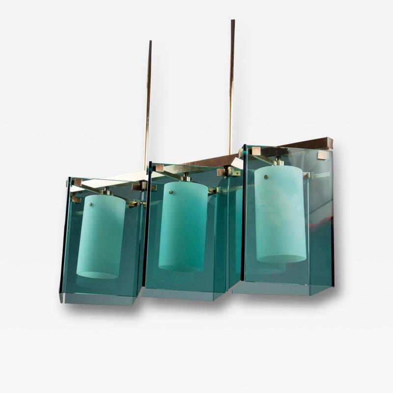 Fontana Arte Three light Chandelier by Fontana Arte Italy 1960 s