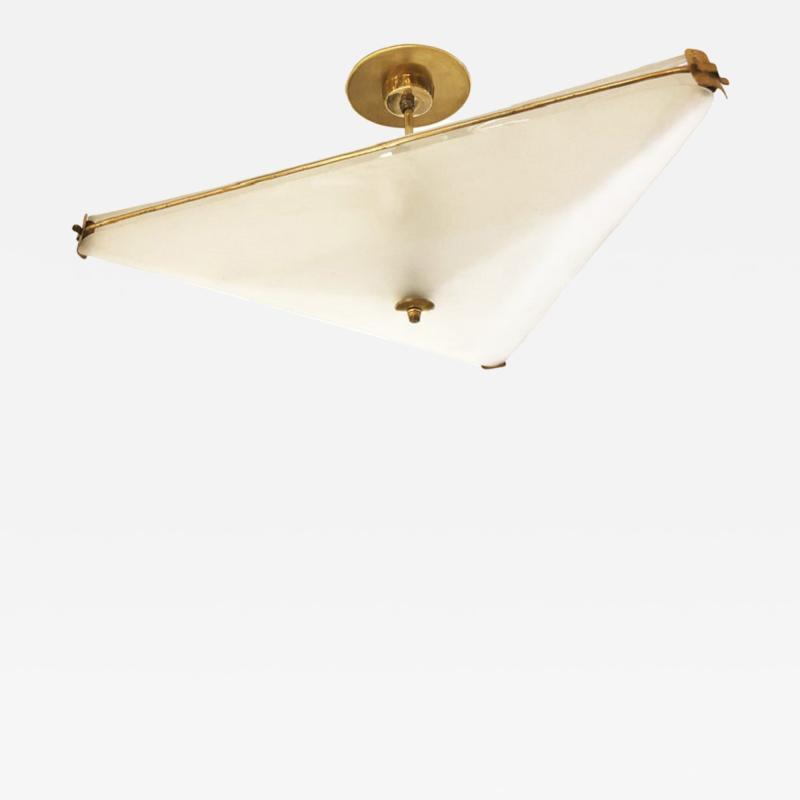 Fontana Arte Triangle Ceiling Light Attributed to Fontana Arte