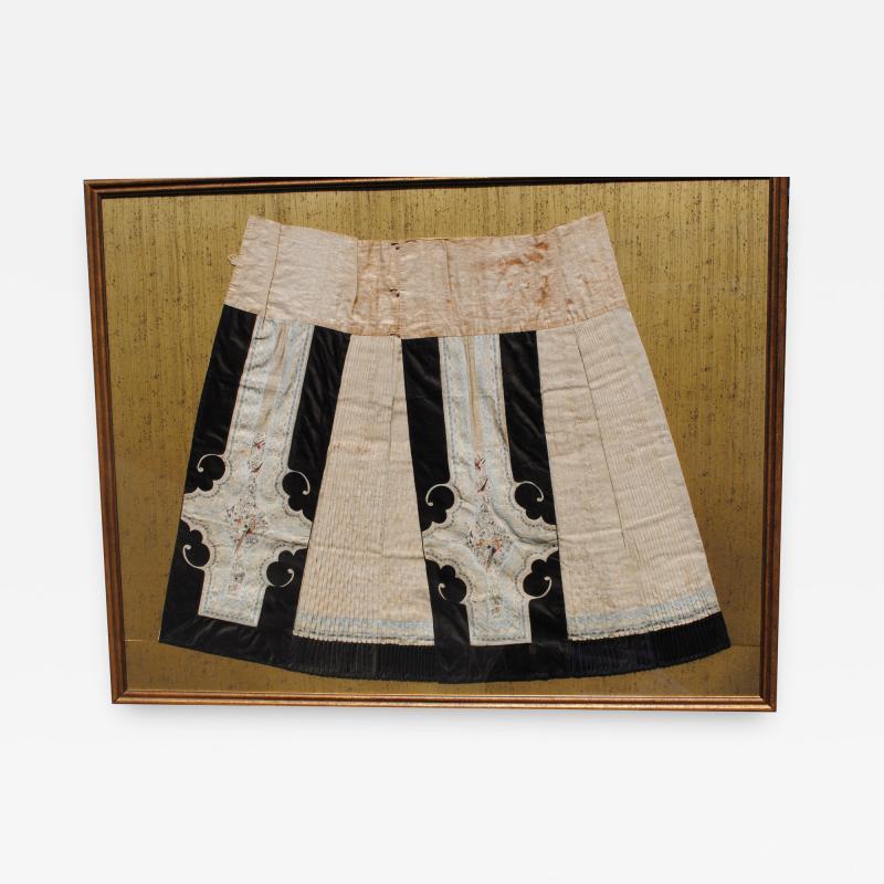Framed Antique Chinese Skirt