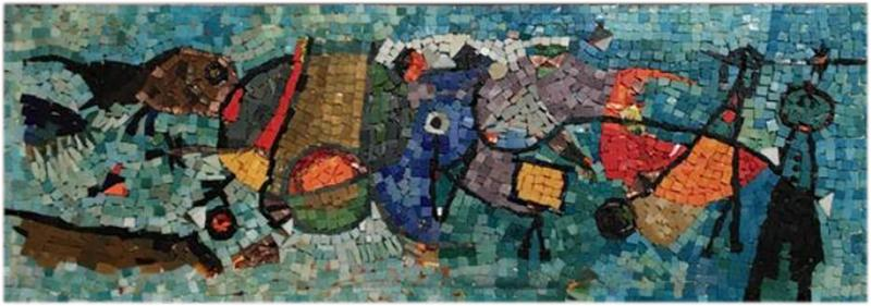 Framed Glass Mosaic