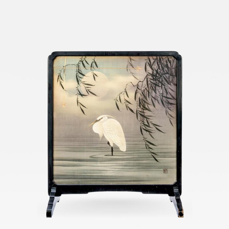Framed Japanese Textile Art Meiji Period