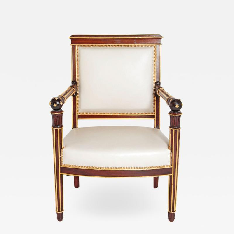 Fran ois Honor Georges Jacob Desmalter French Empire Fauteuil by b niste Jacob Desmalter circa 1820 stamped