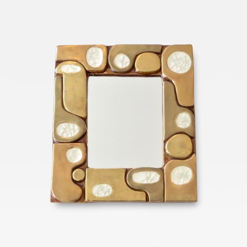 Fran ois Lembo Francois Lembo French Ceramic and Fused Glass Mirror