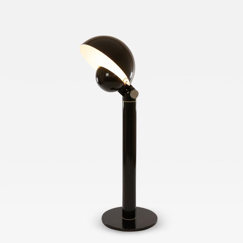 Francesco Buzzi Ceriani Black Cuffia floor lamp by Francesco Buzzi Ceriani for Francesconi 1960s
