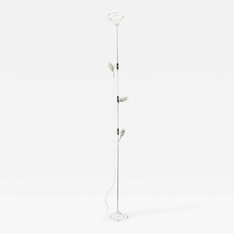 Francesco Fois Chrome floor lamp by Francesco Fois for Reggiani 1960s