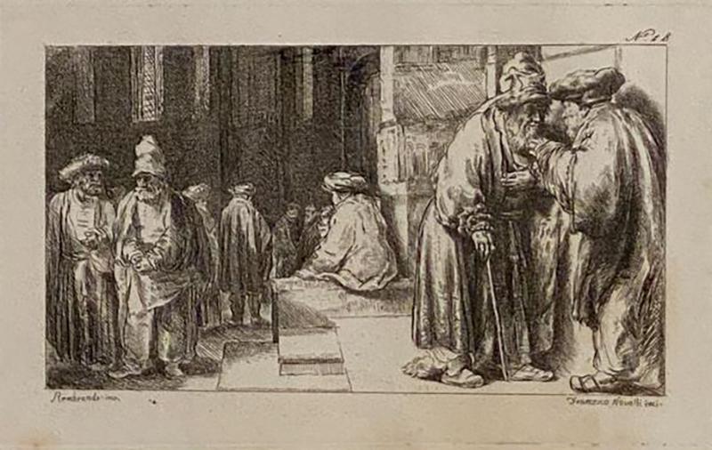 Francesco Novelli Rembrandt Etching 18 by Francesco Novelli