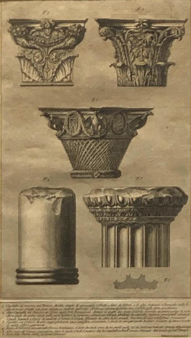 Francesco Piranesi Piranesi Column Etching