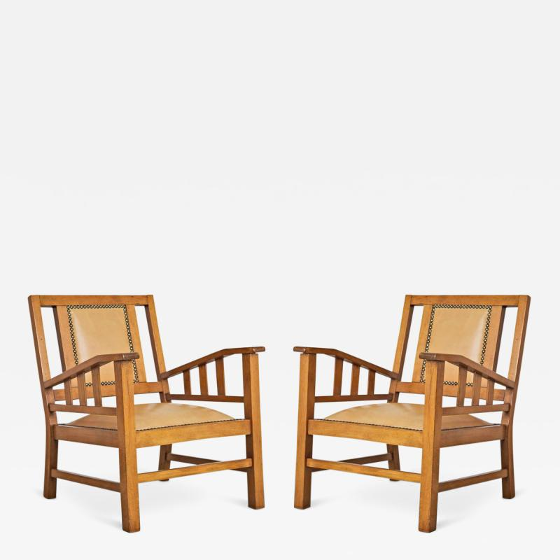 Francis Jourdain Francis Jourdain French Art Deco Modernist Pair of Armchairs circa 1920