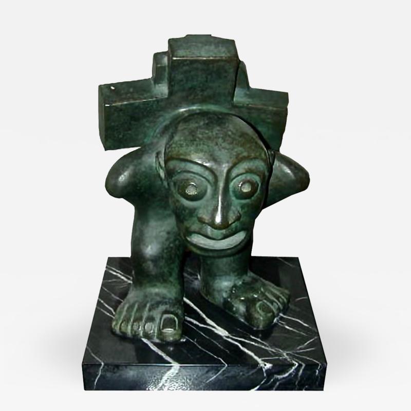 Francisco Arturo Marin El Slavo Bronze Sculpture by Francisco Arturo Marin