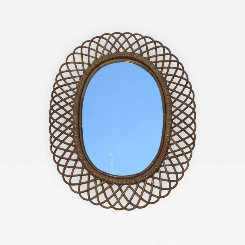 Franco Albini Franco Albini Mid Century Modern Oval Mirror