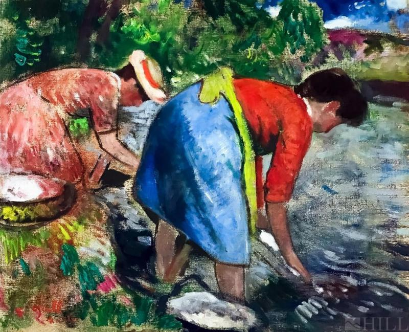 Francois Gall Washer Women Blanchisseuse