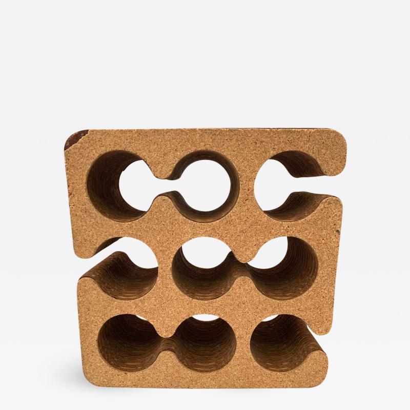 Frank Gehry Frank Gehry Easy Edges Cork and Corrugated Cardboard Nine Bottle Wine Rack