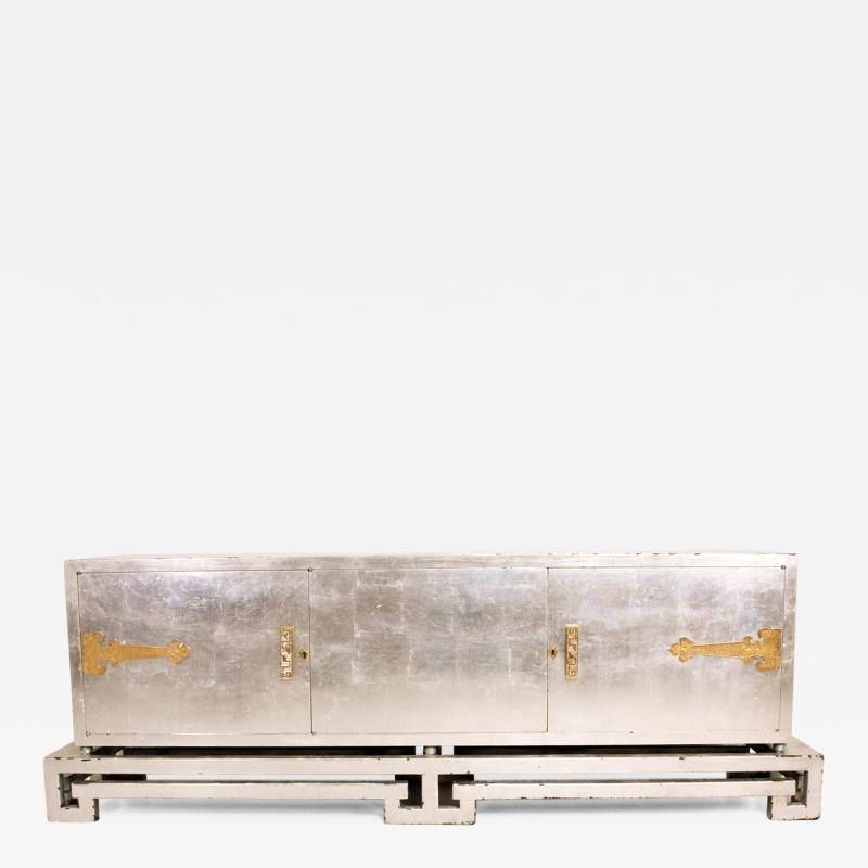 Frank Kyle Mexican Modernist Credenza in Silver by Frank Kyle