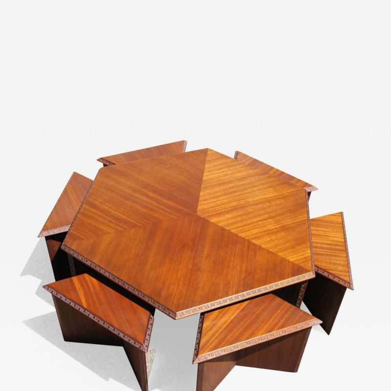 Frank Lloyd Wright Complete Taliesin Coffee Table Set by Frank Lloyd Wright for Heritage Henredon