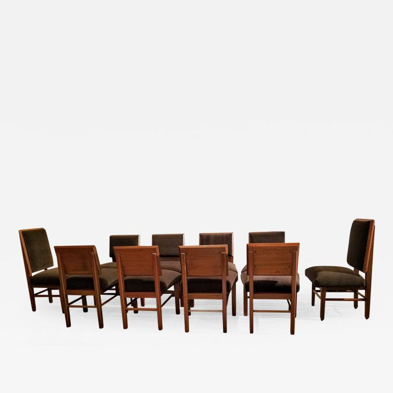 Frank Lloyd Wright Frank Lloyd Wright Suite of Ten Henredon Dining Chairs circa 1955