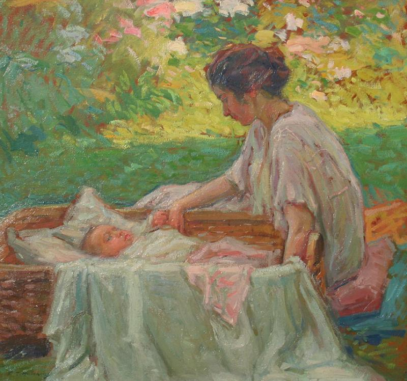 Frank Townsend Hutchens Mother and Child