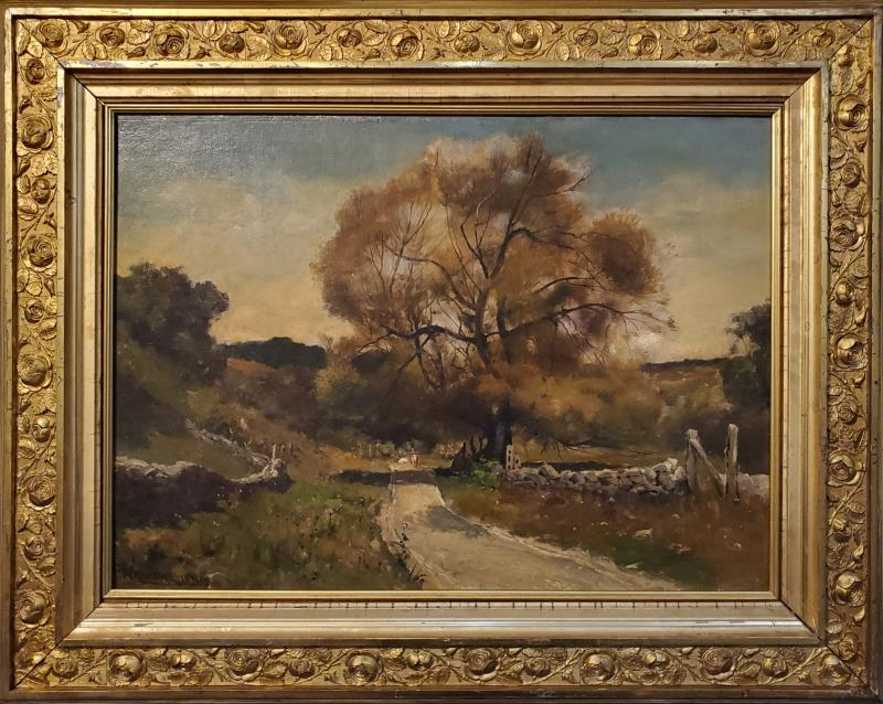 Franklin De Haven American Autumn Landscape Oil Painting Signed and Dated by Benjamin De Haven
