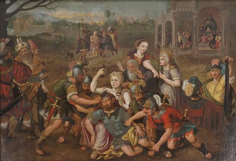 Frans Floris Samson and Delilah Oil on Canvas