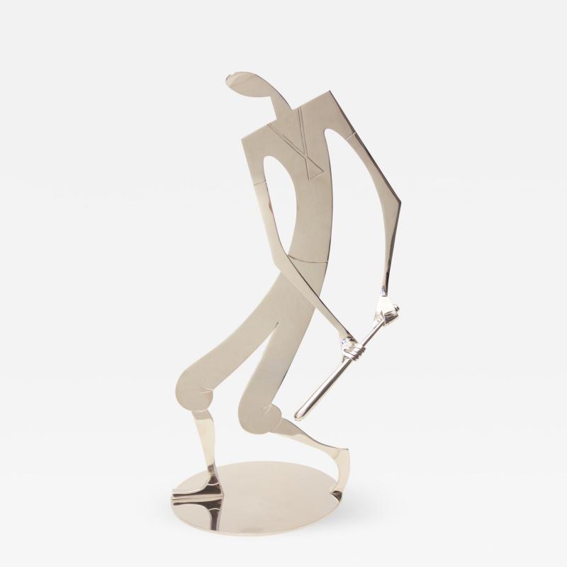 Franz Hagenauer Sculpture by Franz Hagenauer Baseball Player Austria 1960s