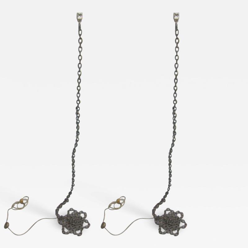 Franz West 2 Floor Lamp Sculptures Privat Lampe des Kunstlers II Attr to Franz West
