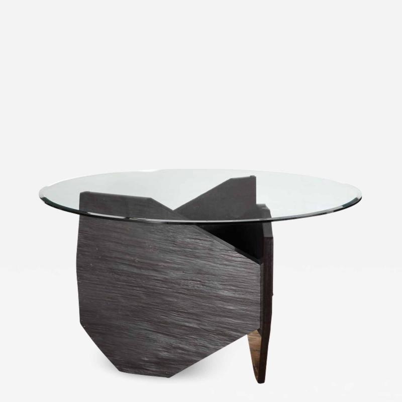 Fre de ric Saulou Marble Slate Dining Table Signed by Frederic Saulou