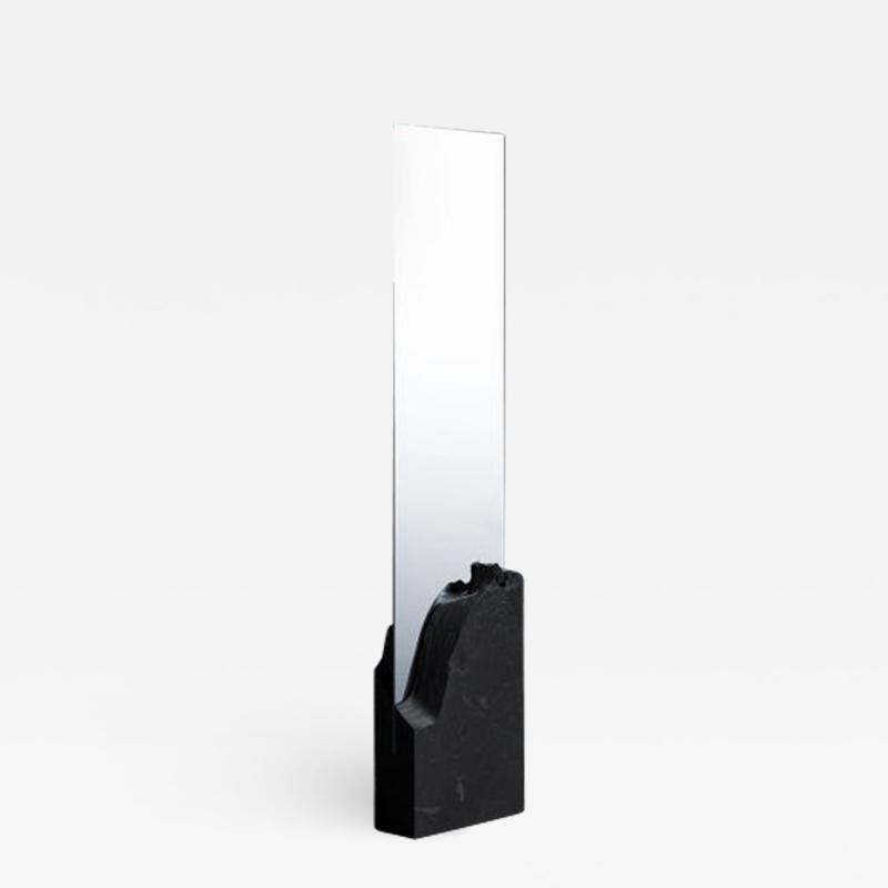 Fre de ric Saulou Unique Slate Sculpted Mirror by Frederic Saulou