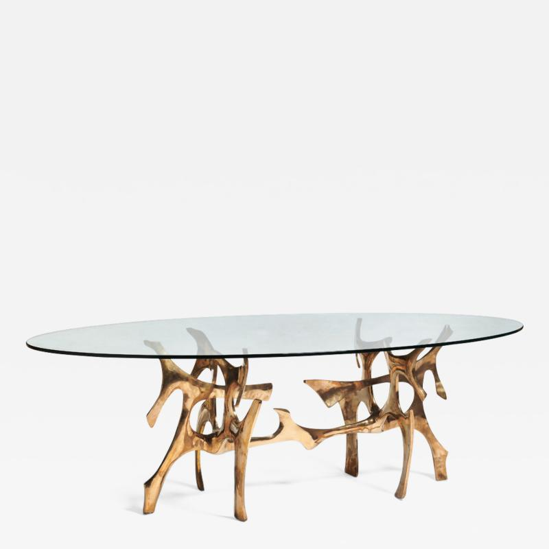 Fred Brouard Rare sculptural dining table