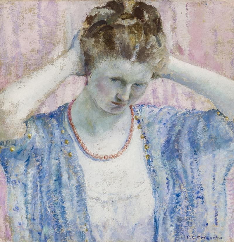 Frederick Carl Frieseke The Coral Necklace