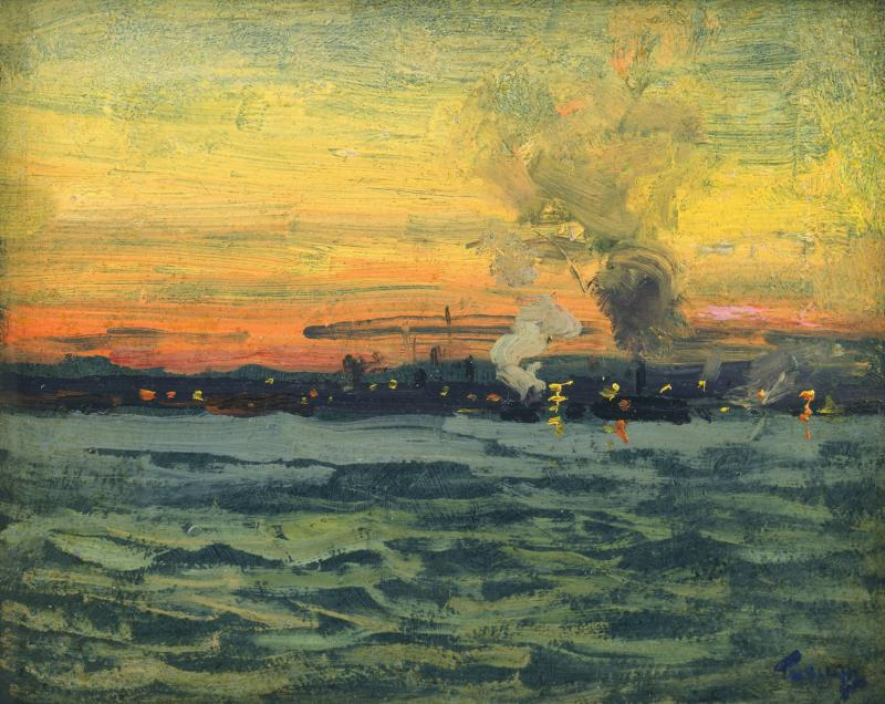 Frederick Judd Waugh Looking Toward Jersey City