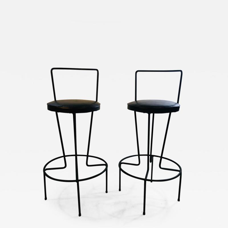 Frederick Weinberg Pair of Unusual Bar Stools by Frederick Weinburg