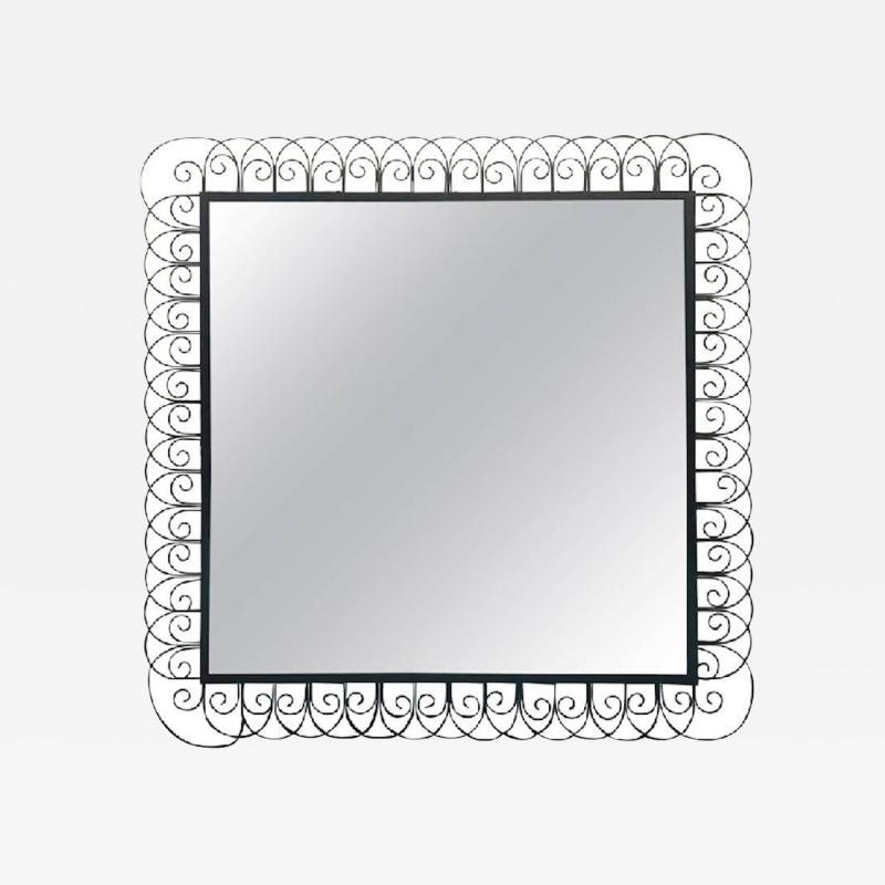 Frederick Weinberg Unusual Wire Frame Mirror in the Manner of Frederick Weinberg