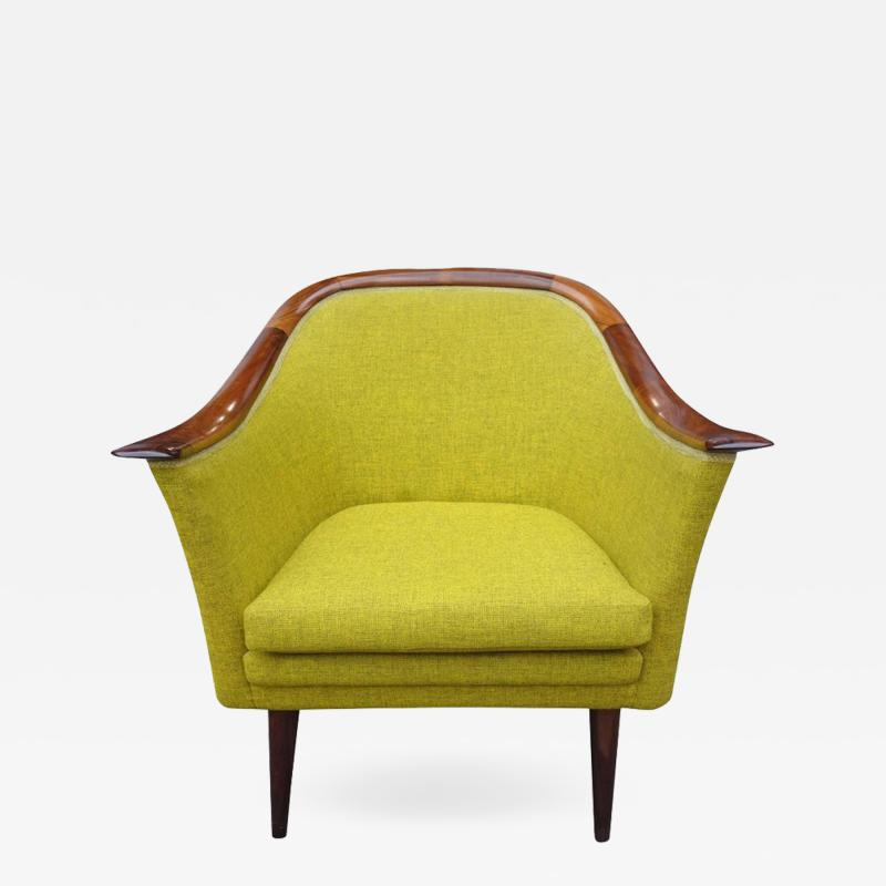 Fredrik A Kayser Midcentury Club Chair by Fredrik Kayser for Vatne