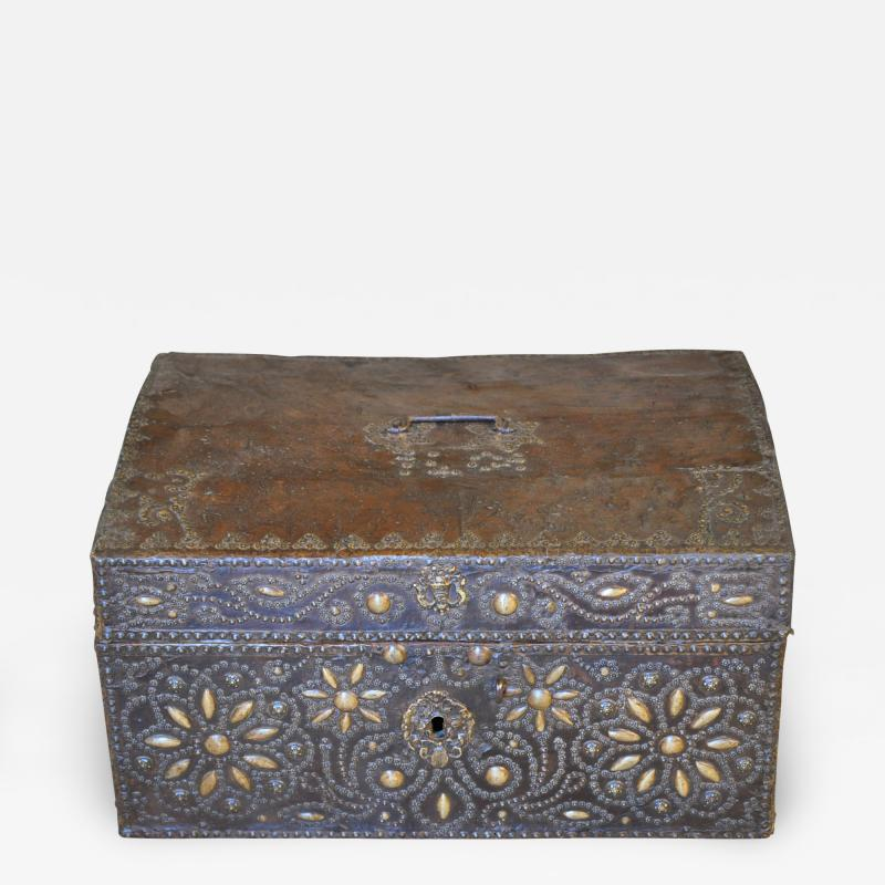 French 18th Century Marriage Coffre Trunk